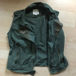 Army Green Jean Vest - NEVER WORN